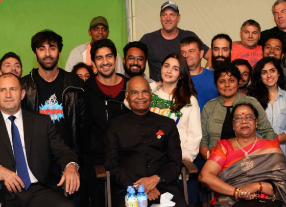Special guests on the sets of 'Brahmastra'